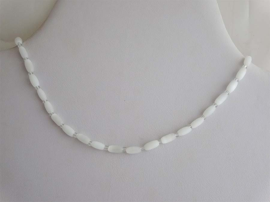 White Cats Eye Necklace