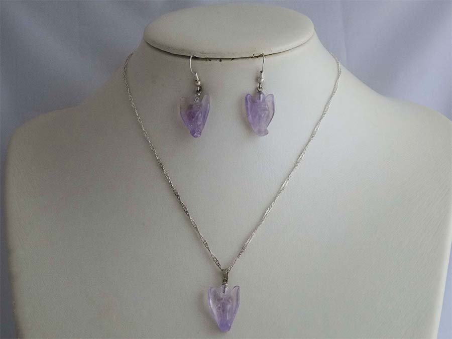 Amethyst Angel Set