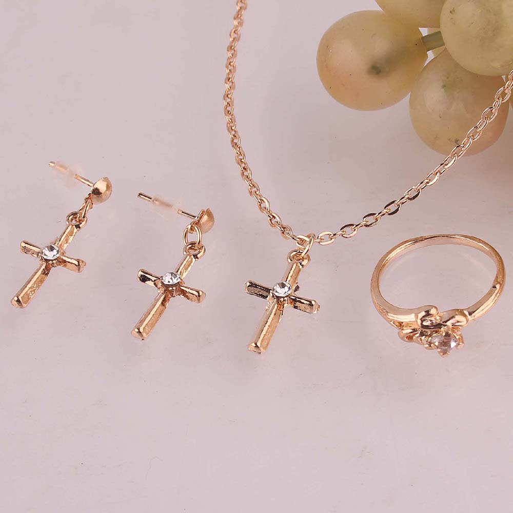 gold cross set
