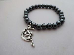 Hematite Bracelet Fairy Charm