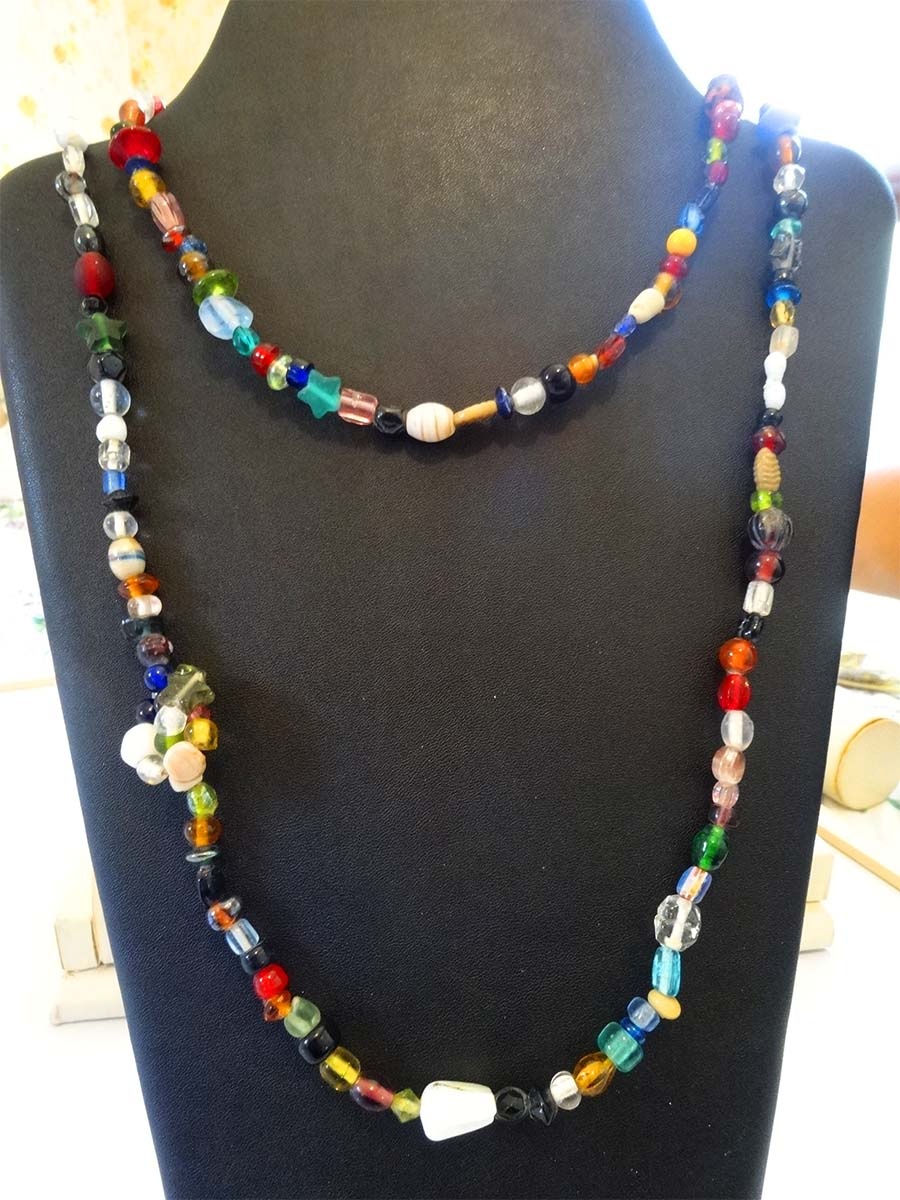 Coloured Necklace, Belt, Lariat