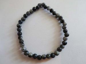 Obsidian Snowflake Stretch Bracelet