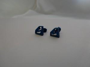 Superman Stainless Steel Ear Stud Earrings