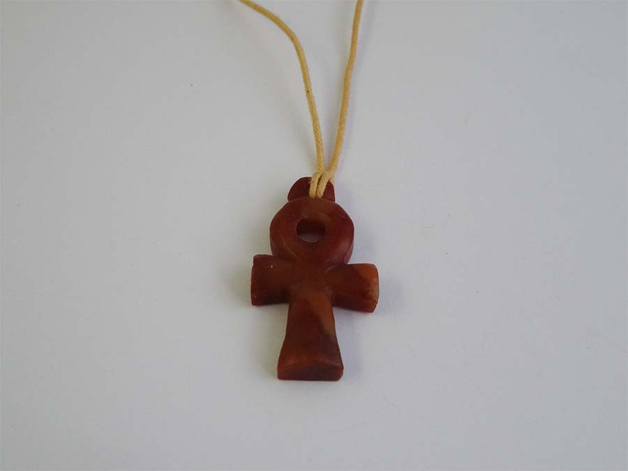 Brown Egyptian Ankh Cross N358