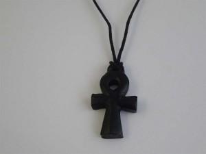Black Soapstone Egyptian Cross N357