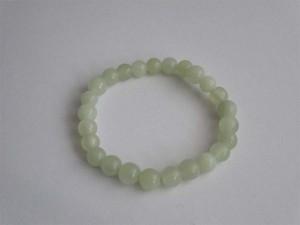 Light Green Jade Stre3tch Bracelet
