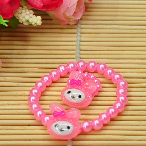 ee1e5d6d7e67 Child Girl Kids Pink Plastic Pearl Hello Kitty Bead Necklace ...