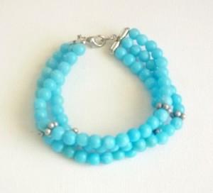 blue_daisy_bead_bracelet