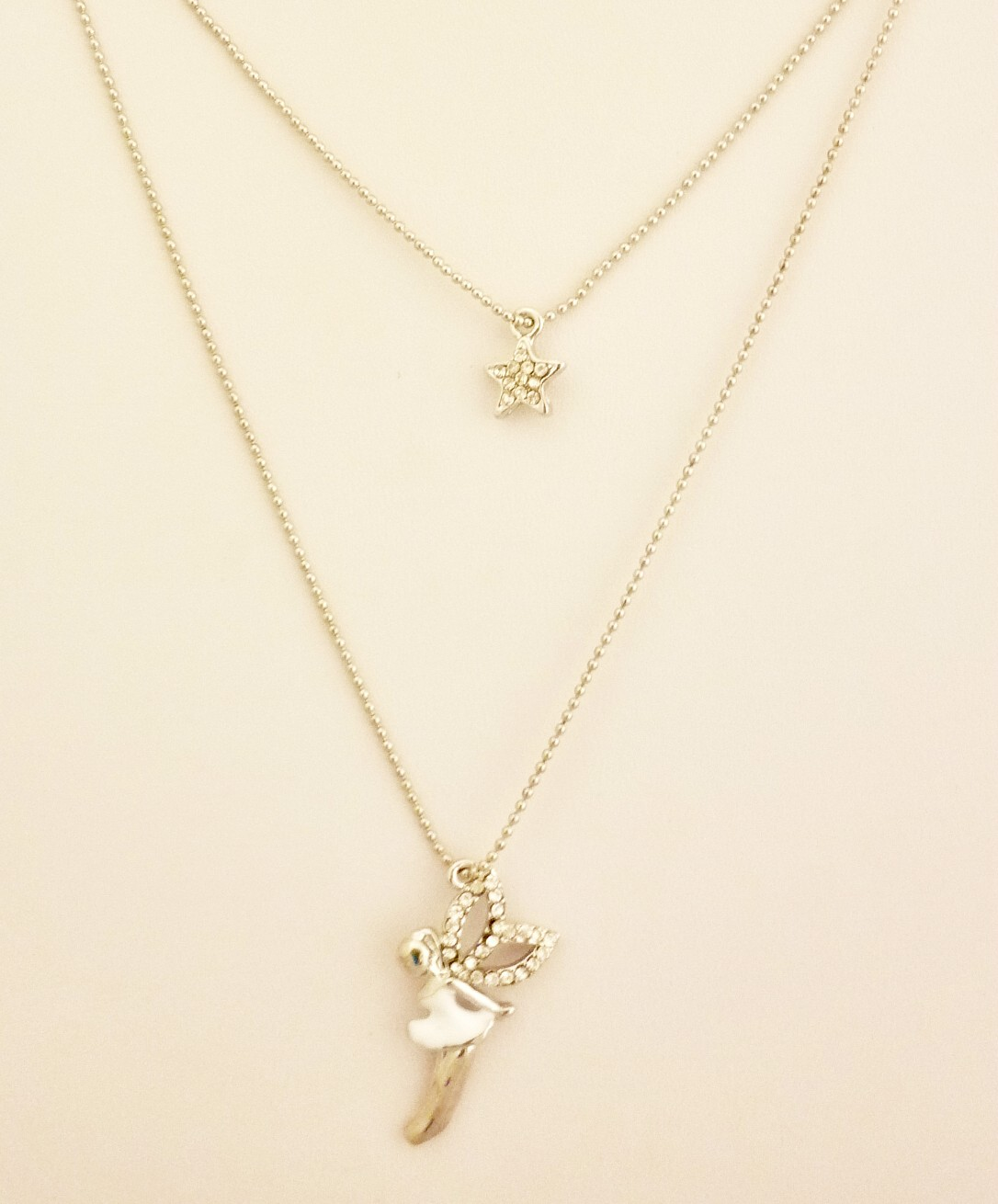 Fairy and star necklace