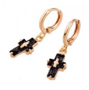 zirconia_cross_earrings_black