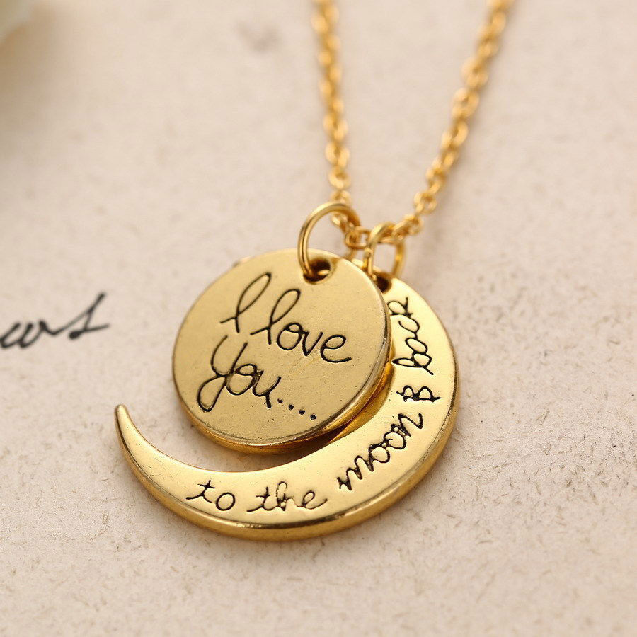 love you necklace gold 1