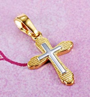 two_tone_gold_filled_cross_pendant