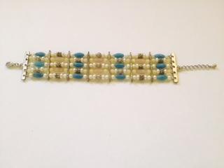mid blue 5 strand bracelet