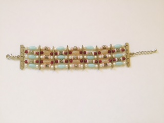 light blue 5 strand bracelet