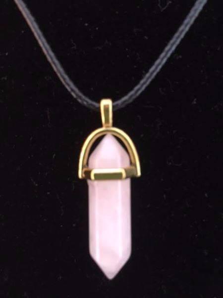 rose quartz double terminator