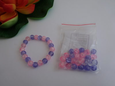 Pink & Purple Glass Bead Bracelet Kit
