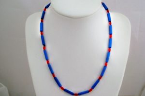 Red & Blue Surf Necklace